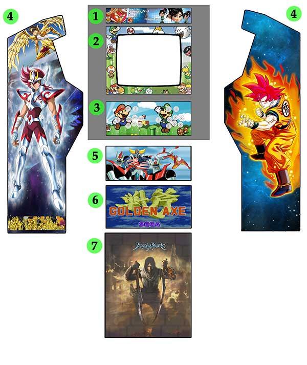 Ejemplo de diseño arcade