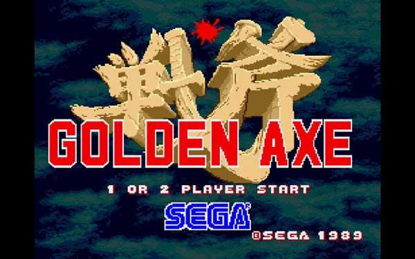 Aspecto del juego Golden Axe en el emulador de System 16