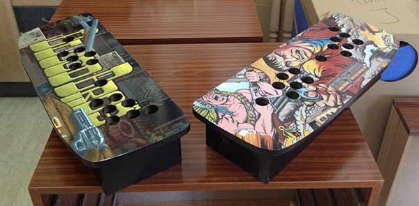 Mandos arcade vinilados con y sin raspberry molan for Conectar botones arcade a raspberry pi 3