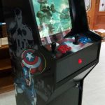 Máquina arcade homenaje a Capitán América
